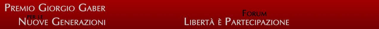 Il Forum del Premio Gaber